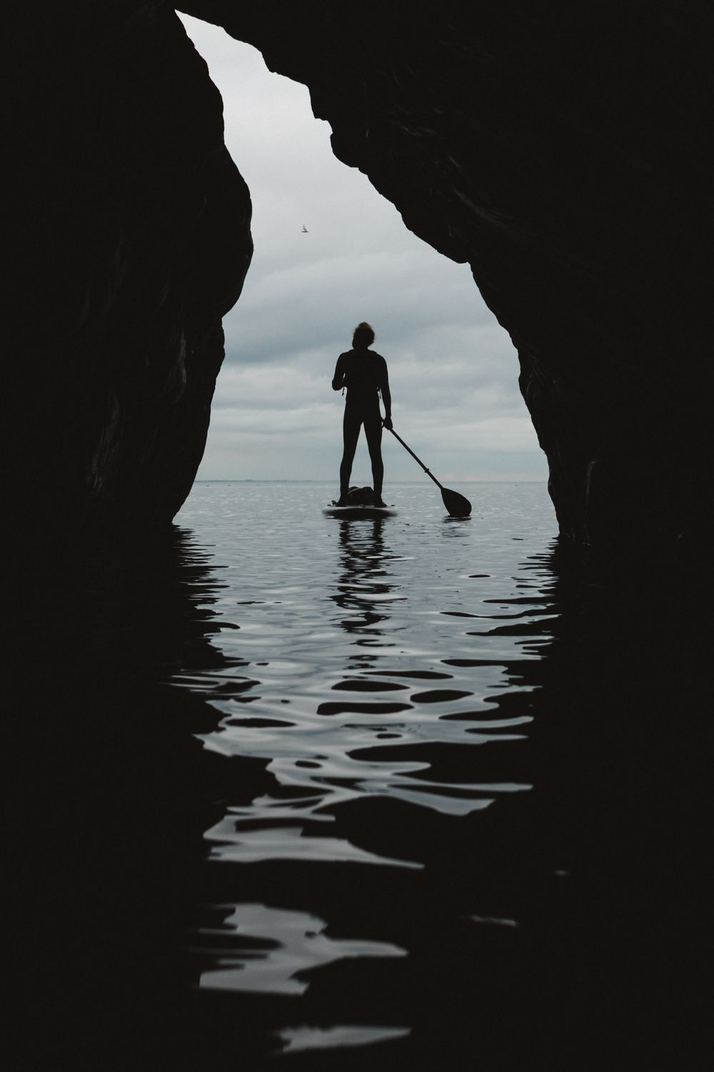 The Adventure Photographers SUP paddleboarding photographer Fidra North Berwick Silhouette Photography