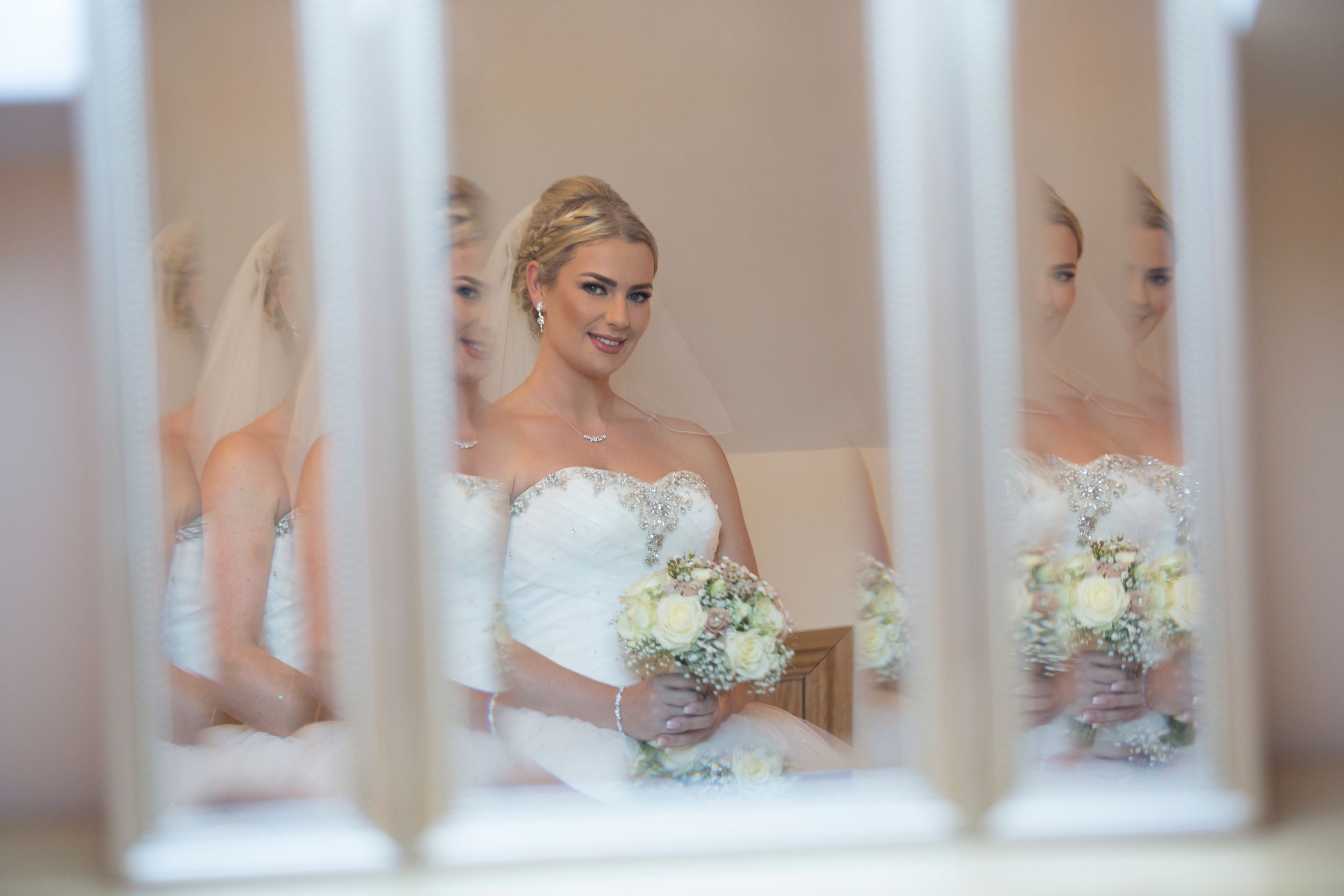 bride getting ready at Old Walls Wedding, Gower