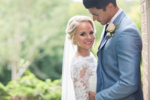 beautiful bride and her handsome groom at De Courceys Manor