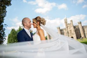 beautiful wedding portrait at Hensol Castle