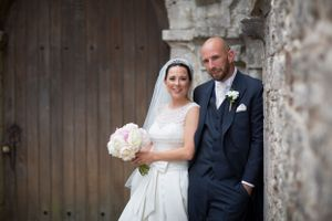 bride and groom Ewenny Priory