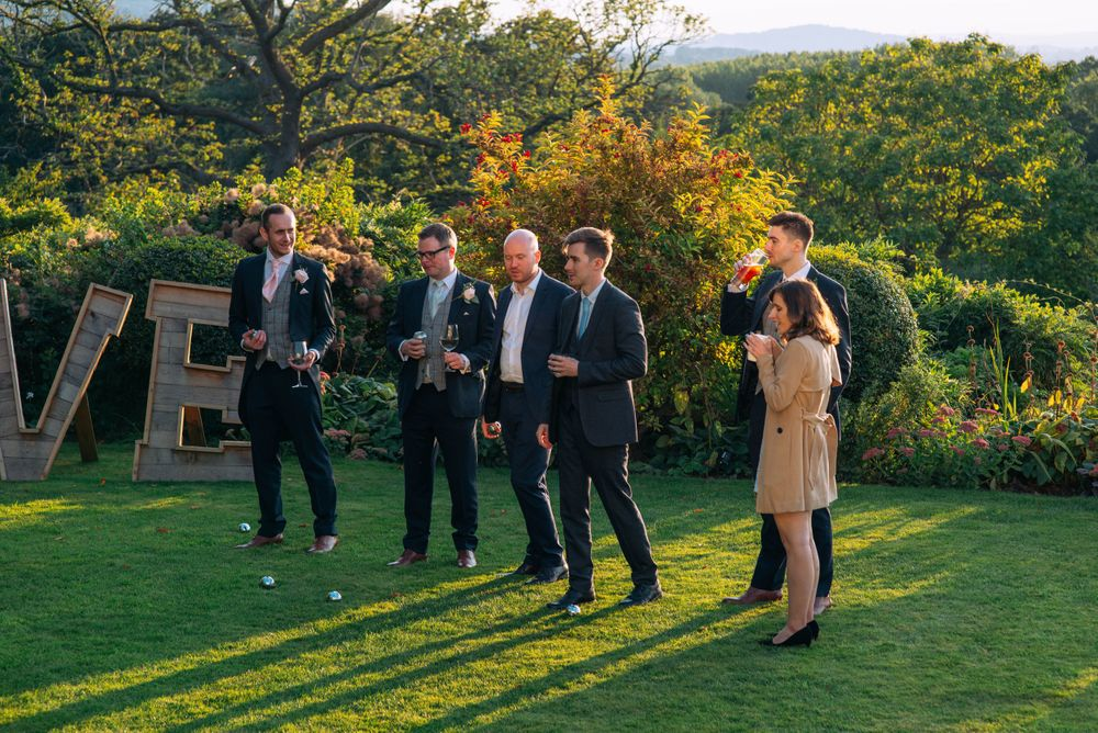 Zara Davis Wedding Photography Near Stroud, Gloucestershire, Cotswolds Glenfall House guests mingling