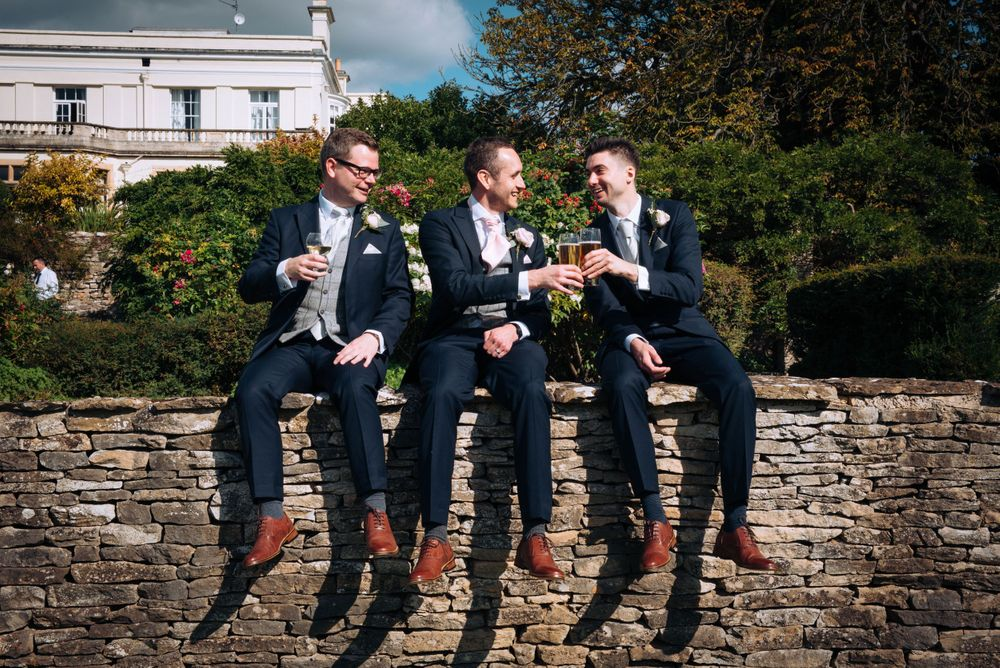 Zara Davis Wedding Photography Near Stroud, Gloucestershire, Cotswolds Glenfall House groom and best man and usher