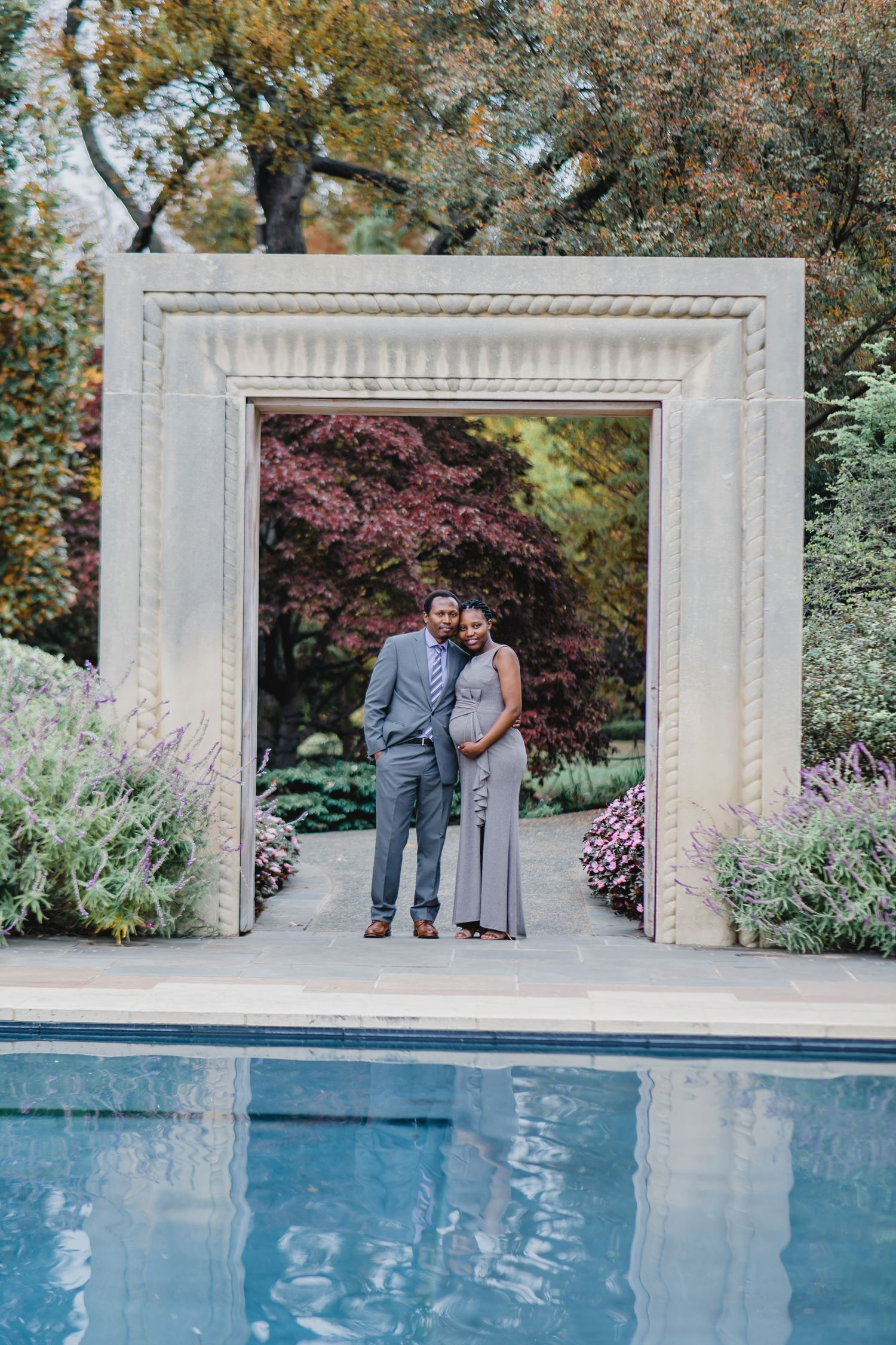 Dallas Arboretum engagement photo