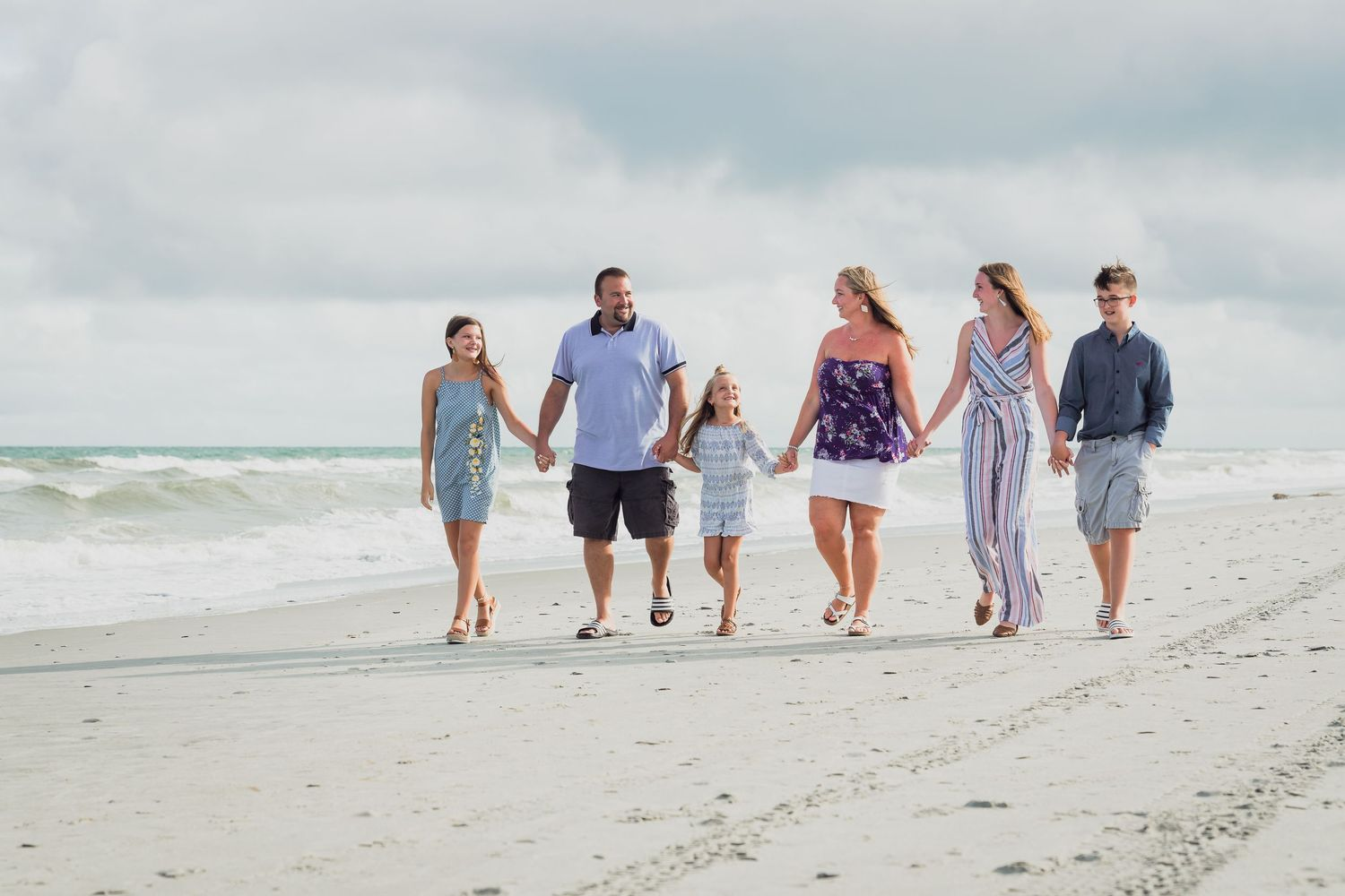 Family portrait at the beach in Myrtle Beach by PHV Photo, Myrtle Beach Family Portrait Photographer