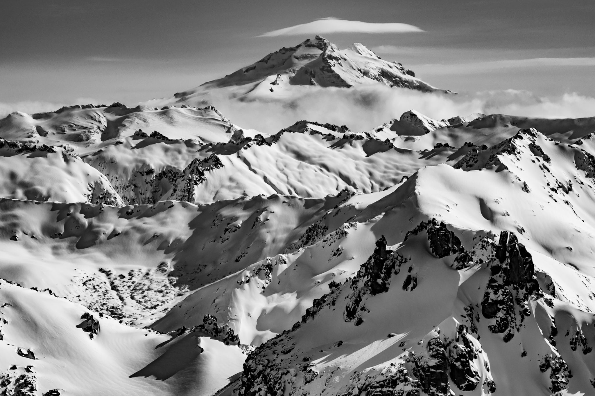 The andes landscape photographic art print black and white