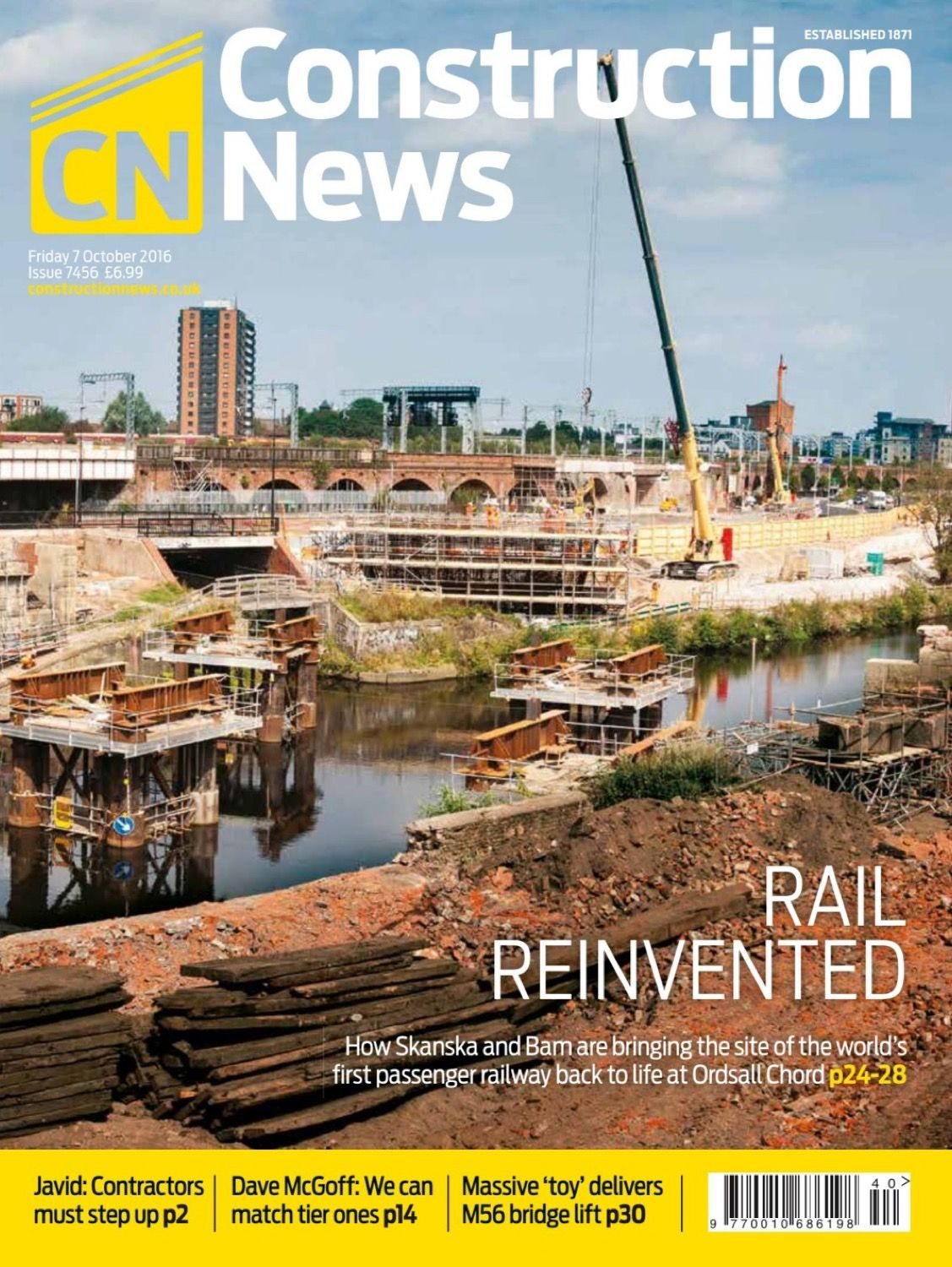 Construction News October 2016 Ordsall Chord