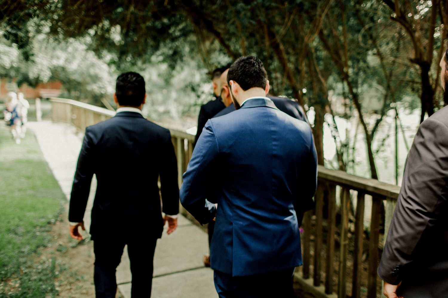 groom walking away