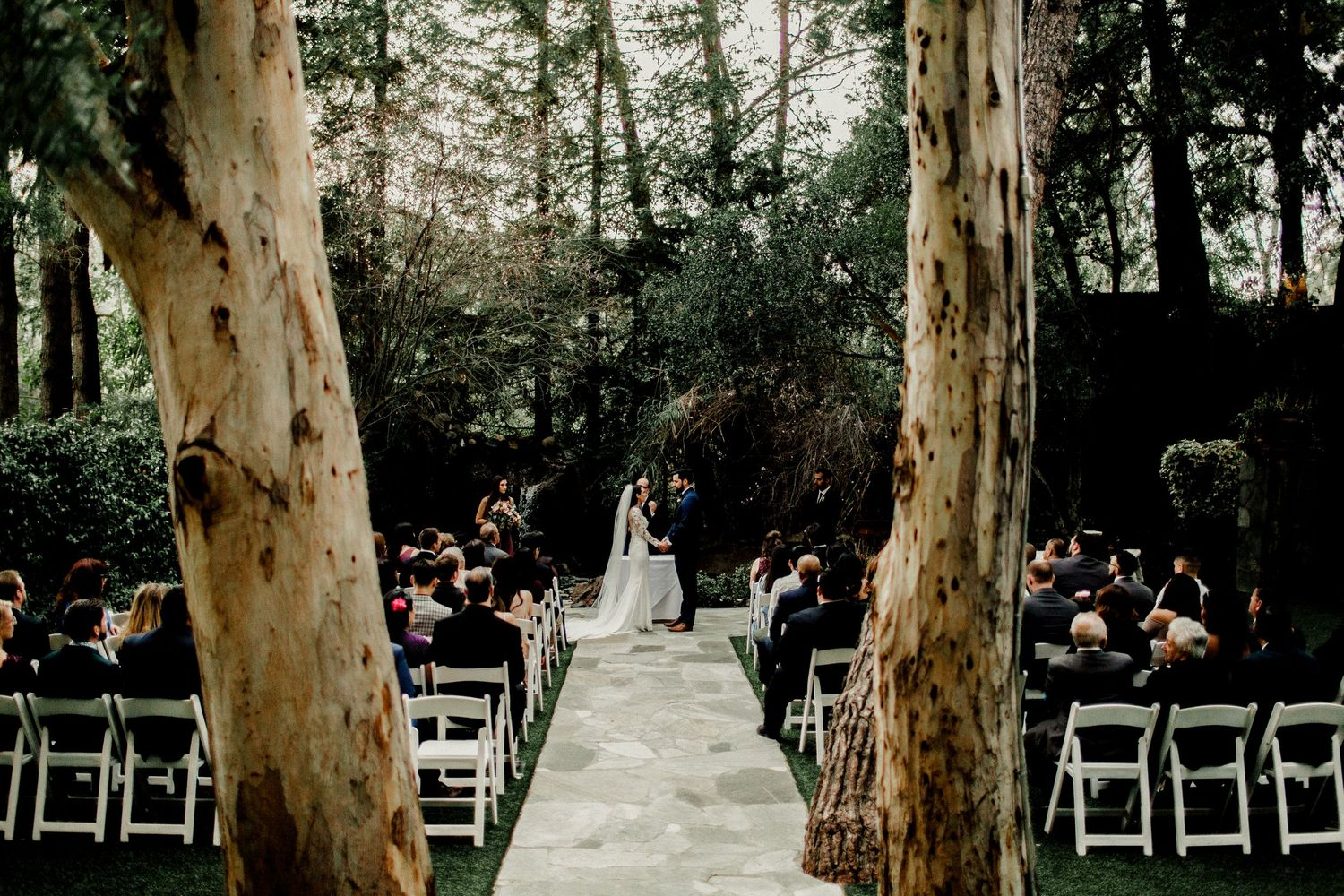 calamigos ranch malibu wedding ceremony wide shot