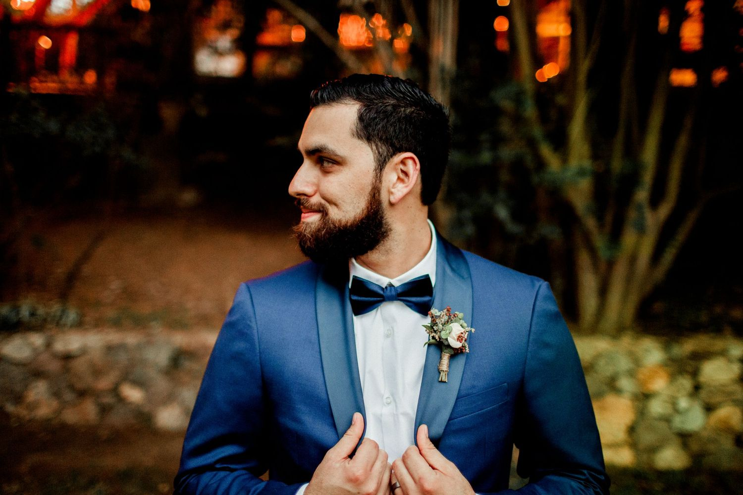 side profile of groom portraiture