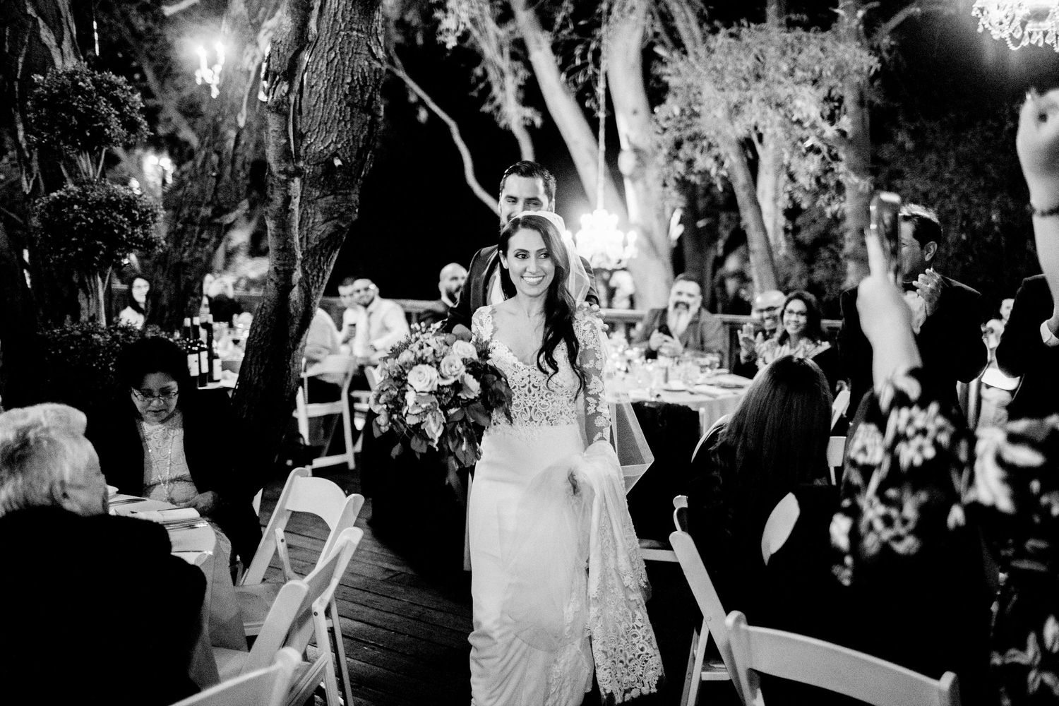 grand entrance bride and groom birchwood room calamigos ranch