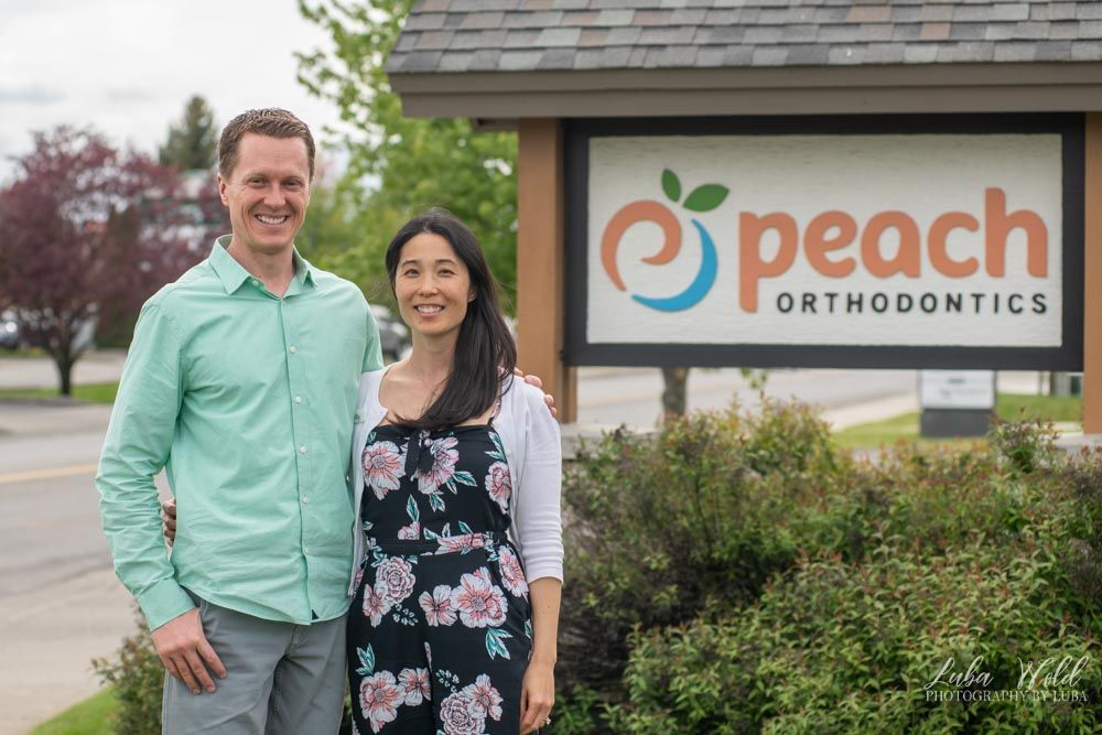 Save local businesses project featuring owners in Post Falls by photographer Luba Wold Peach Orthodontics