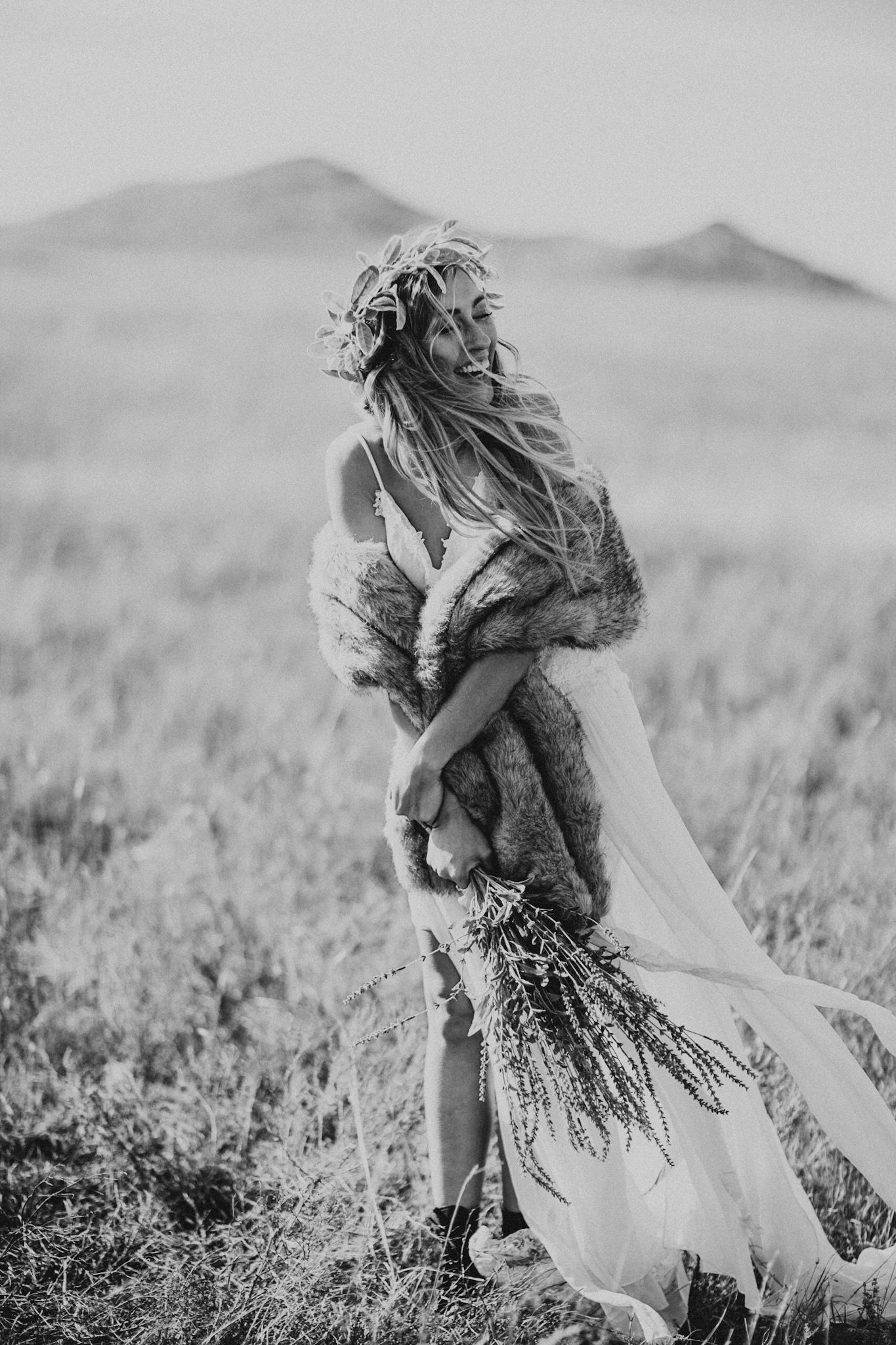 Photo Of A Young Happy Bride In The Wichita Mountains