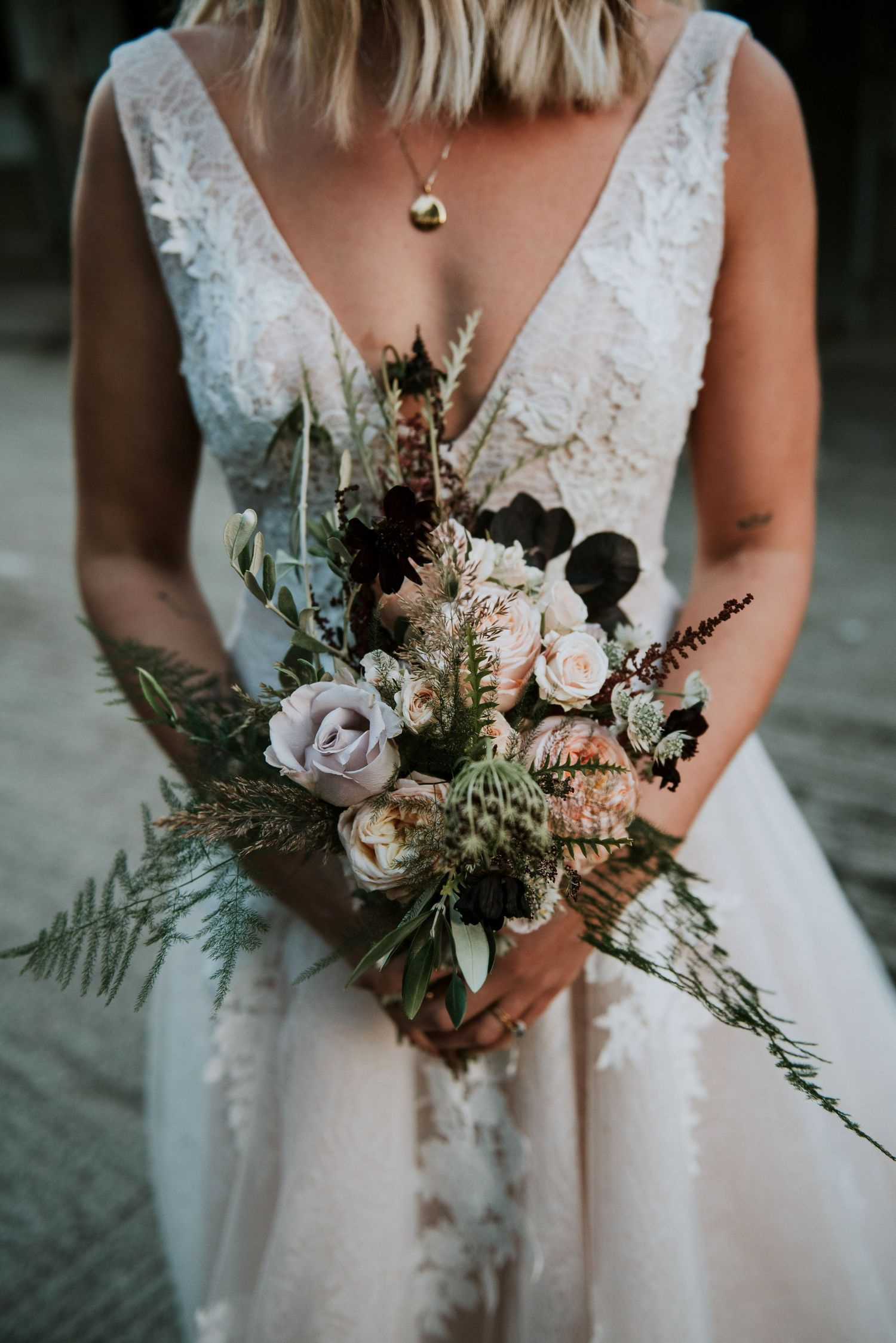 Grace & Thorn bouquet - London wedding photographer
