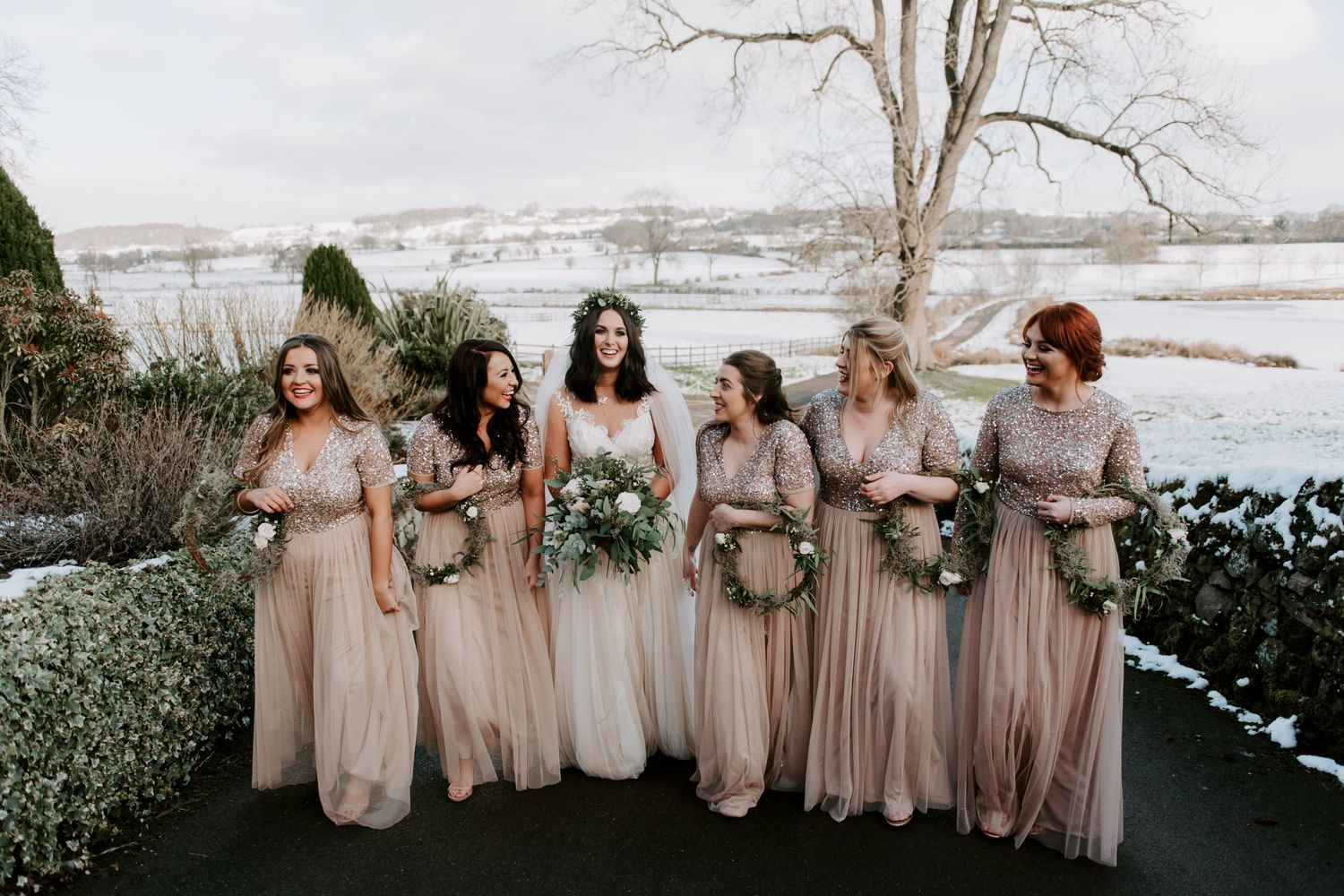 Winter wedding at The Ashes Wedding Venue - Rosie Kelly Photography