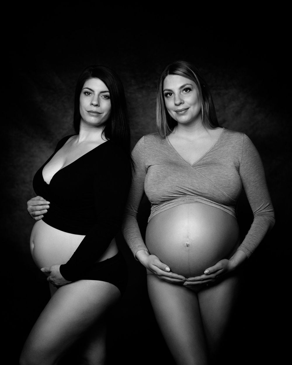 fine art maternity photography black and white