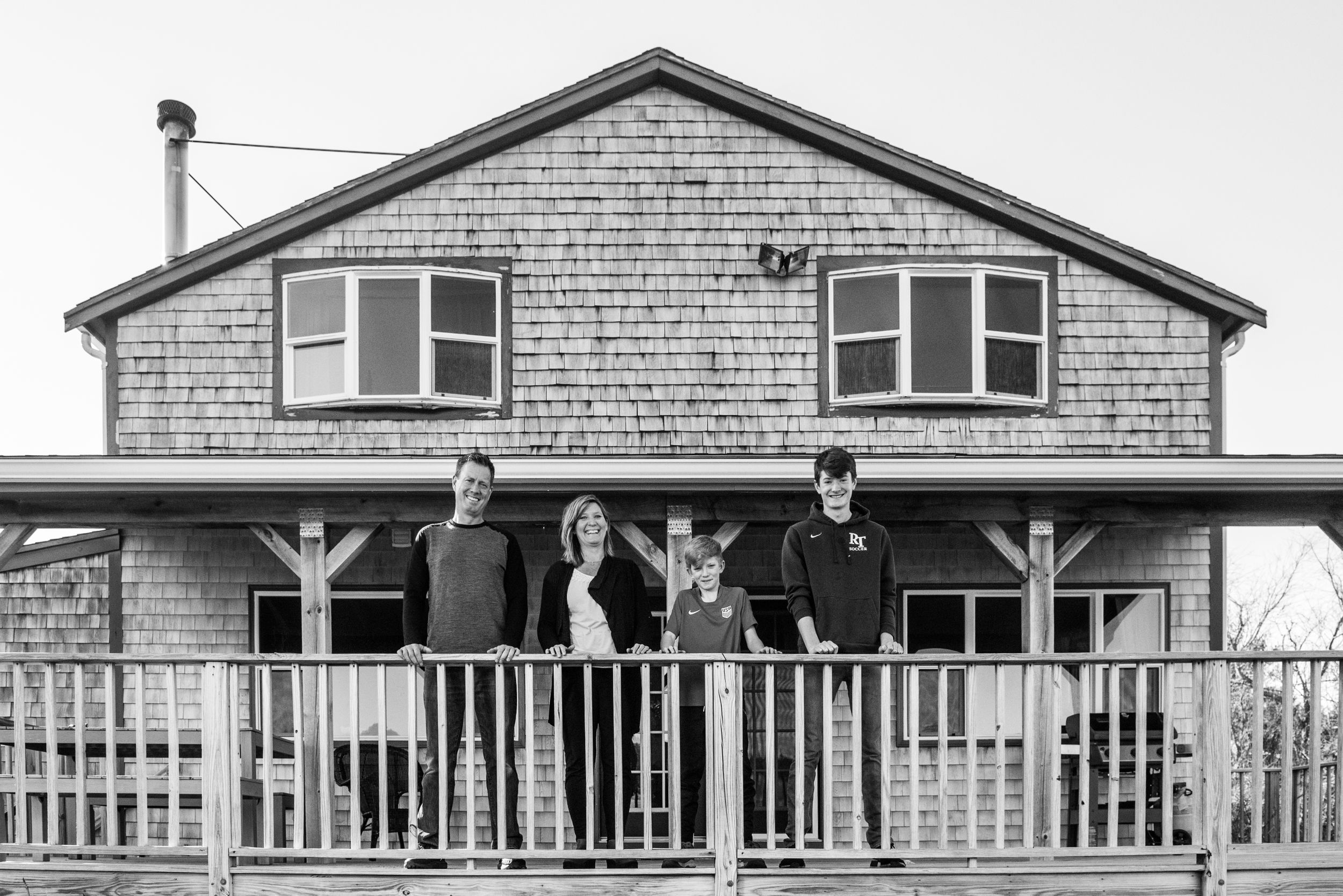 family porch portrait by heidi harting photography in Plymouth MA during Coronavirus