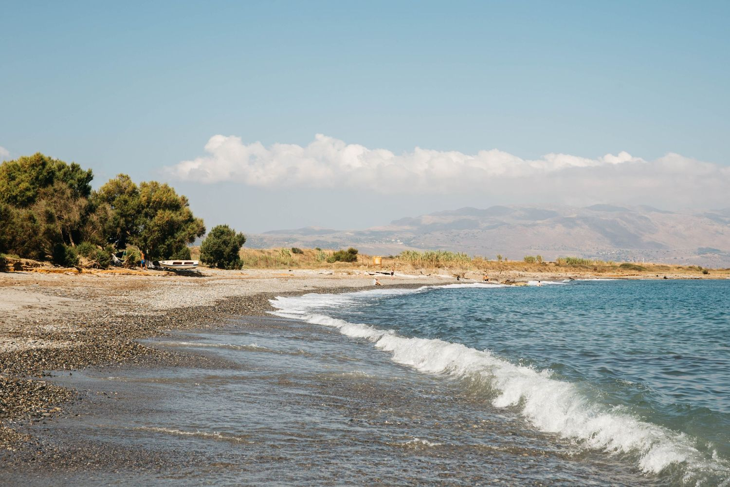 summer holiday in crete greece beach in maleme