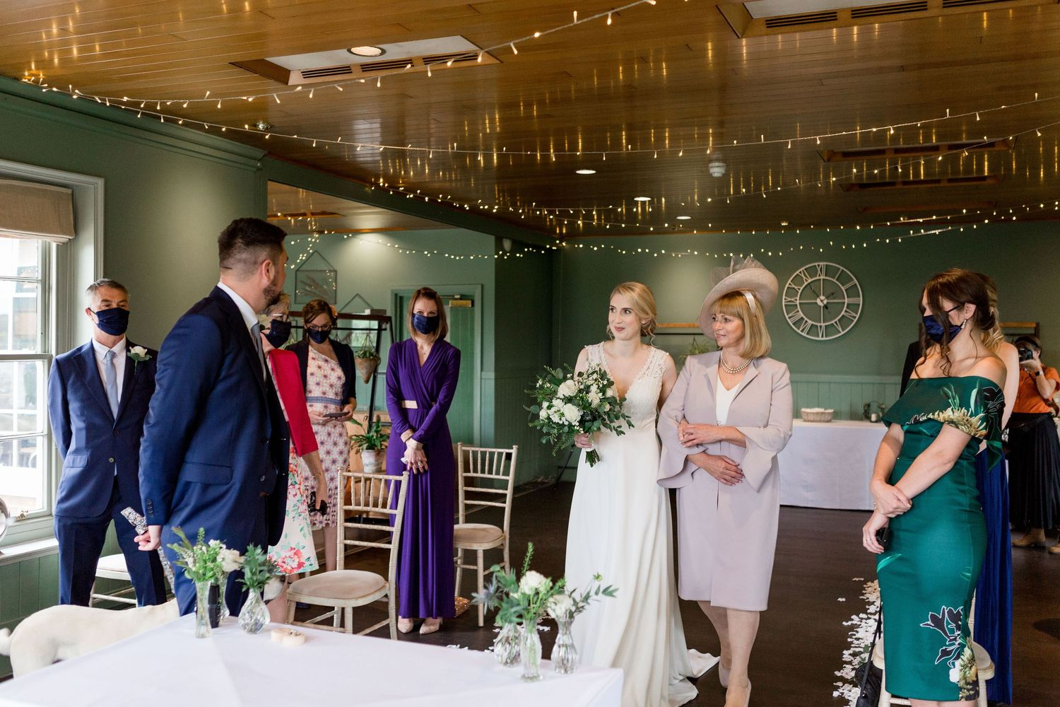 small- wedding ceremony at The Master Builders, Bucklers Hard