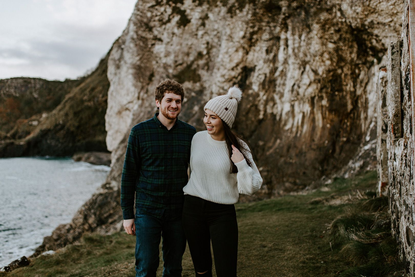Couple Engagement photoshoot at Ireland Coast