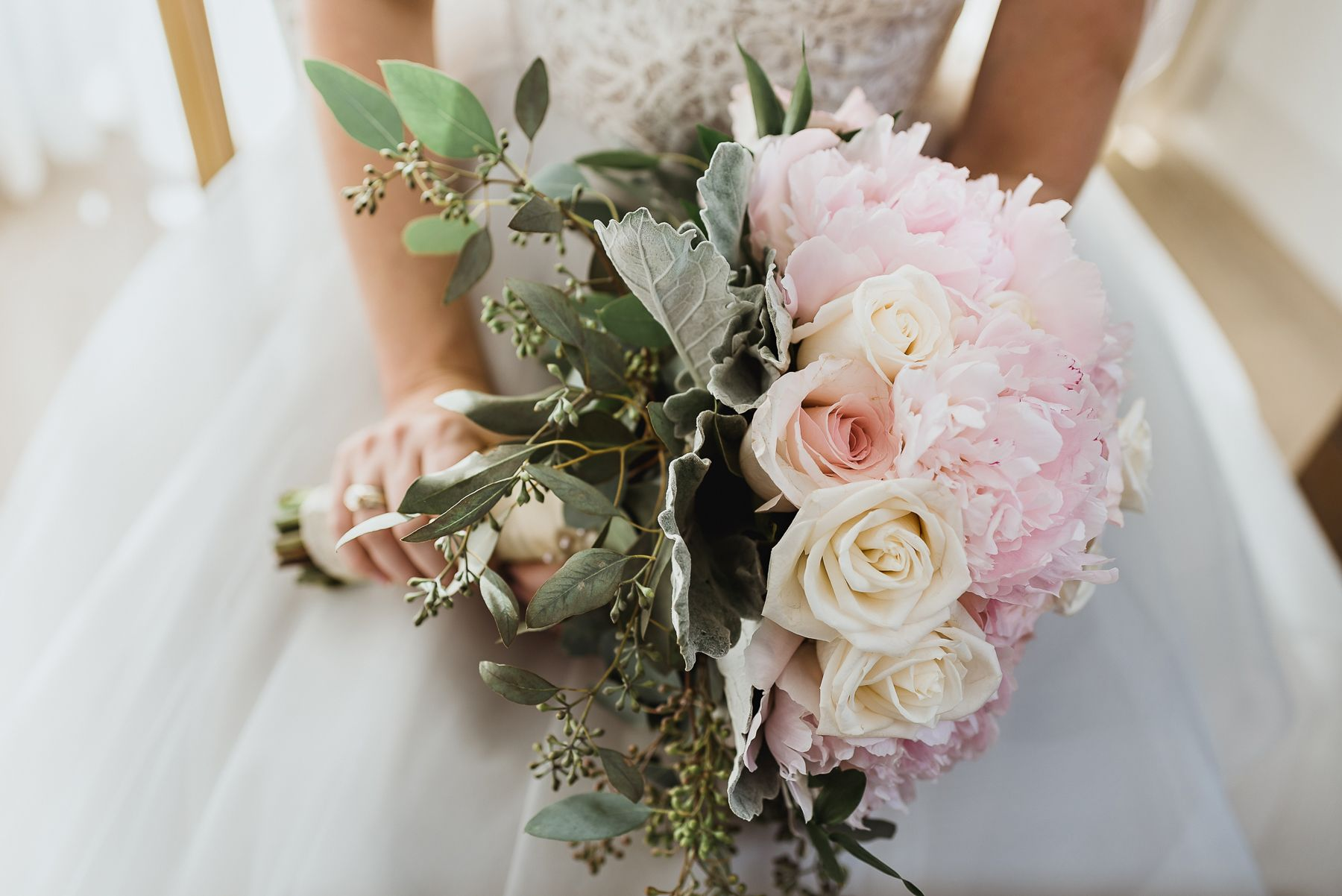 Light Pink Bridal Bouquet by Tampa Wedding Photographer