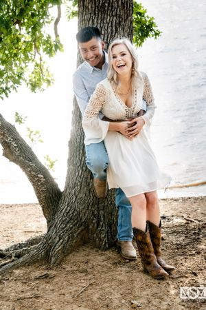 grapevine lake engagement session cowboy chic