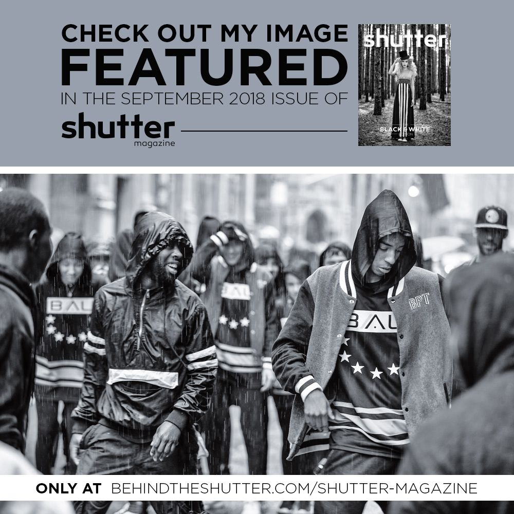 Shutter Magazine feature in black and white