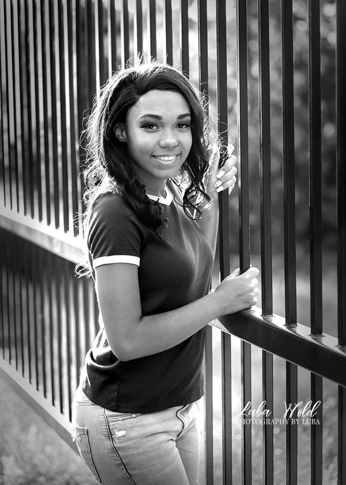 Spokane high school senior black girl photographer luba wold in Post Falls Idaho