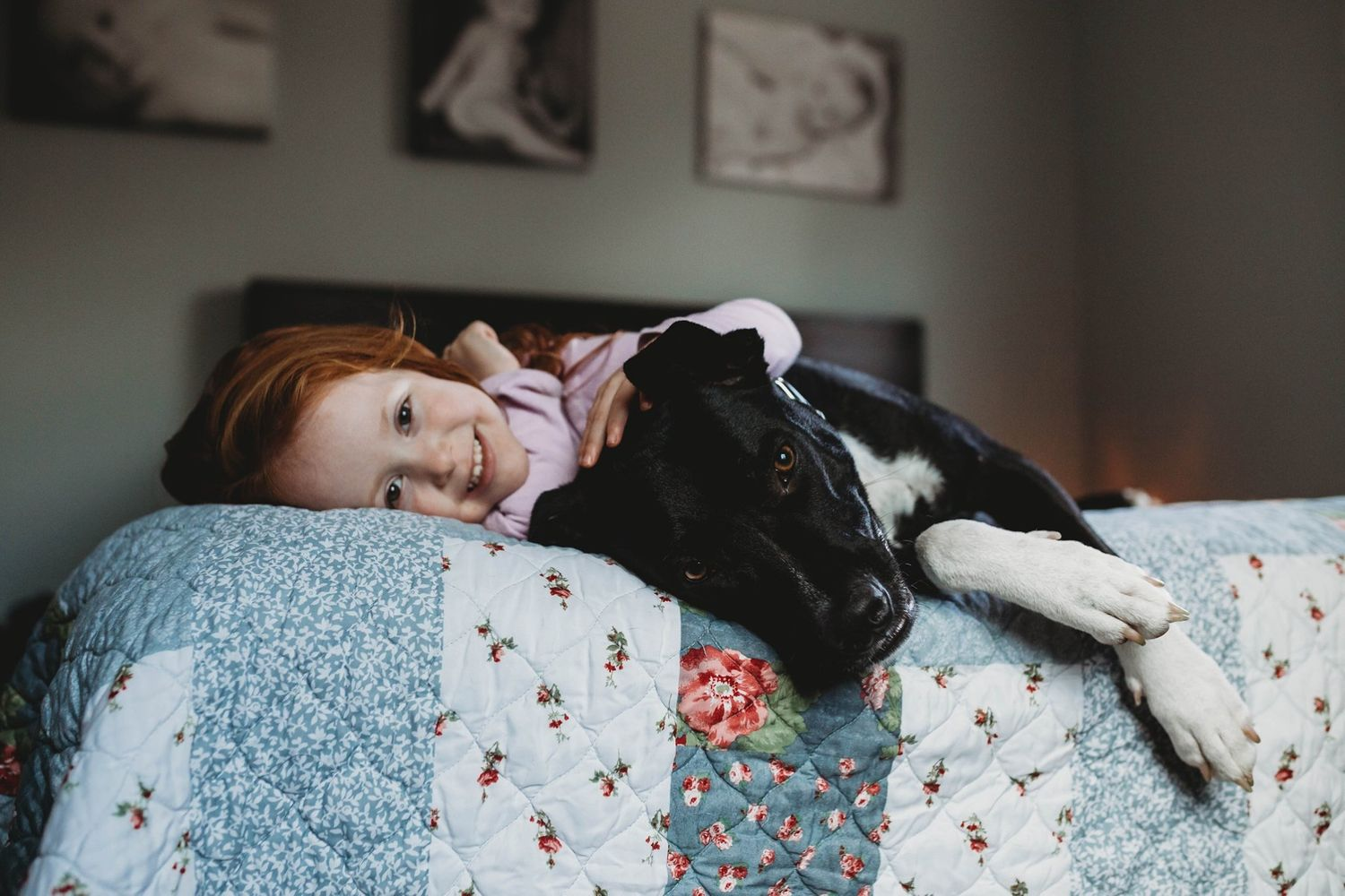 girl and her dog by boston photographer