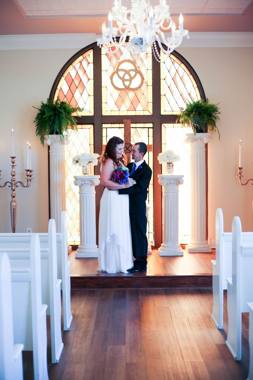 st augustine florida chapel wedding bride groom