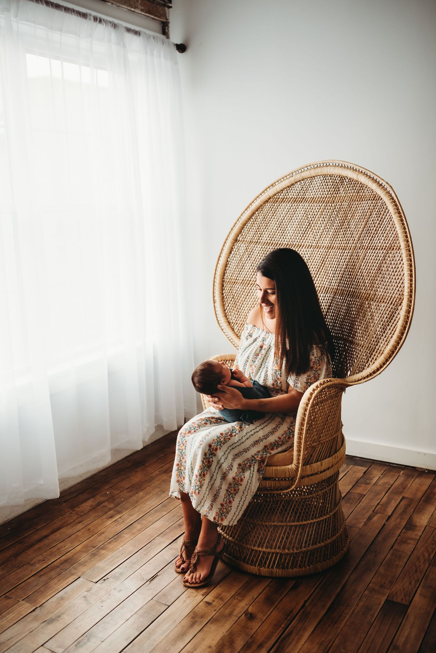mama and baby newborn photography