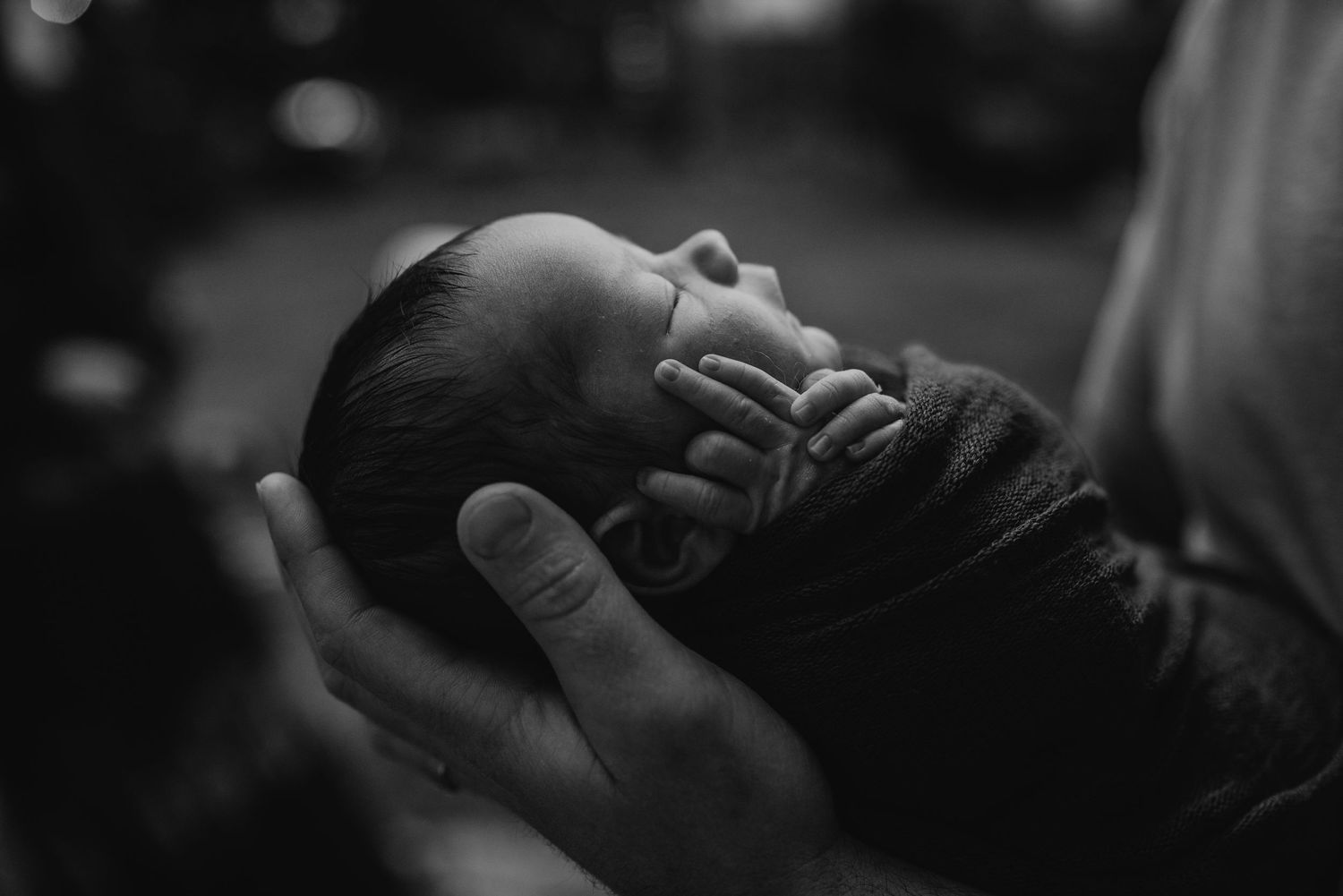 backlit newborn