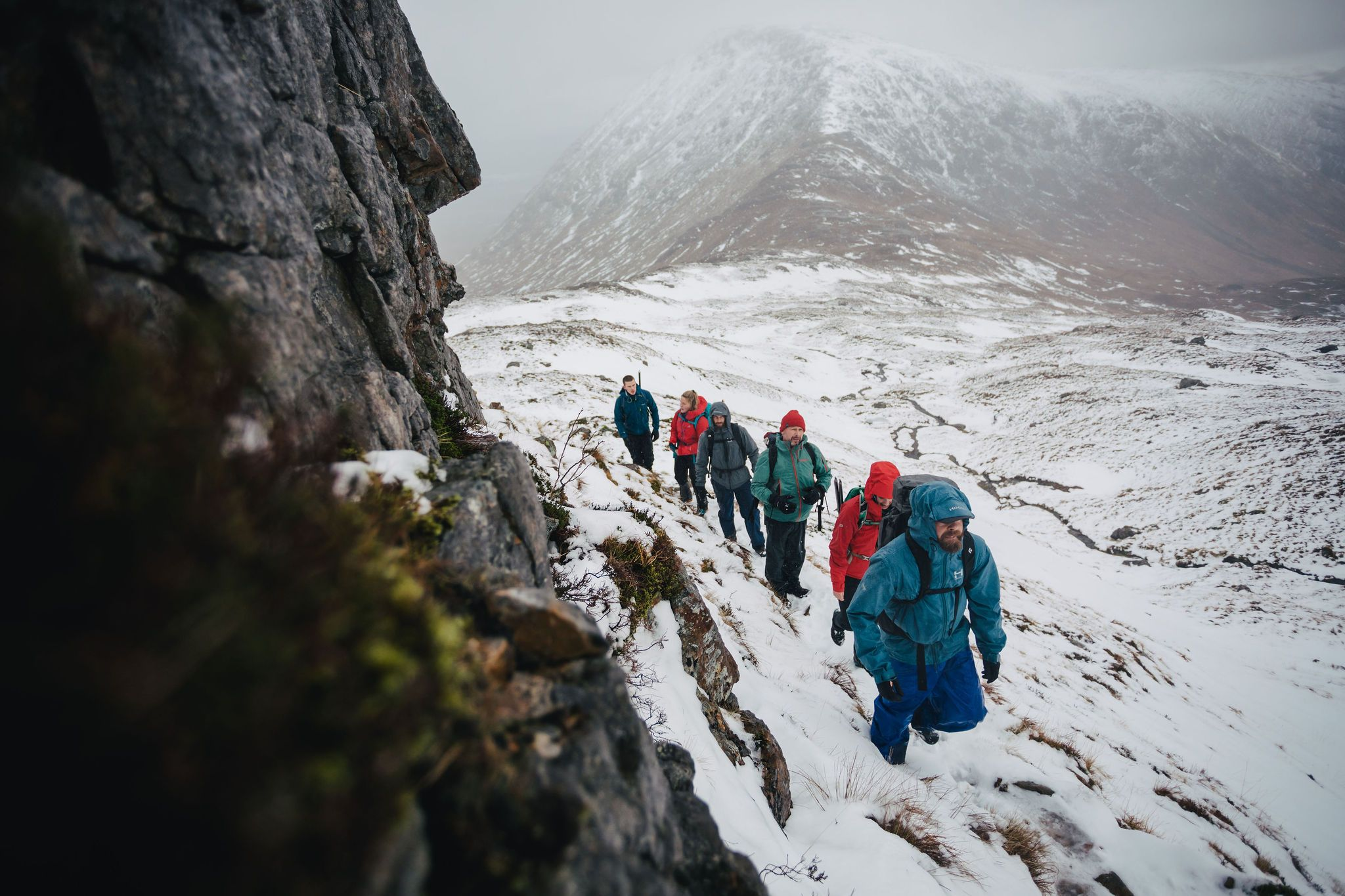 Ocean Vertical hiking climbing munro Scottish Highlands Glencoe Adventure photography by the adventure photographers