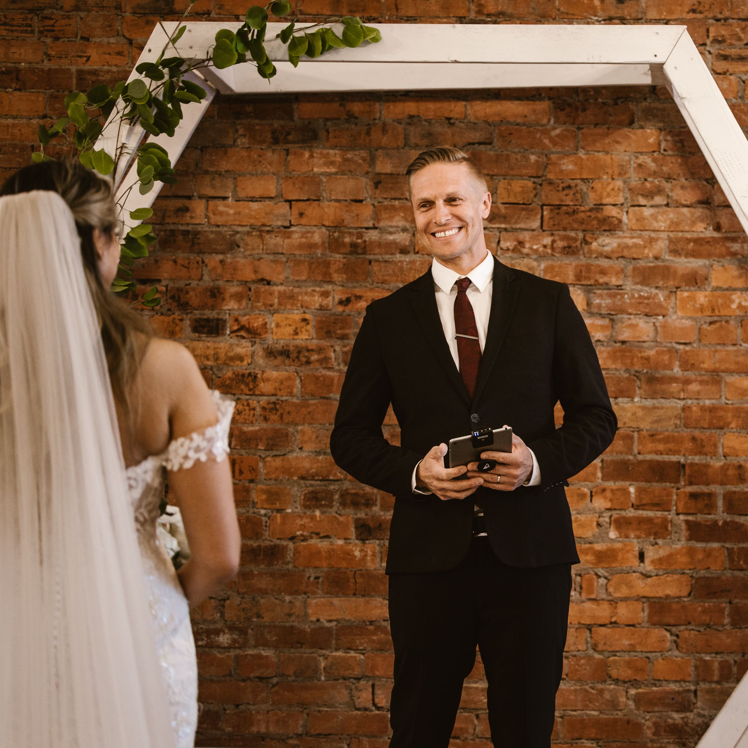 Urban officiant wedding ceremony