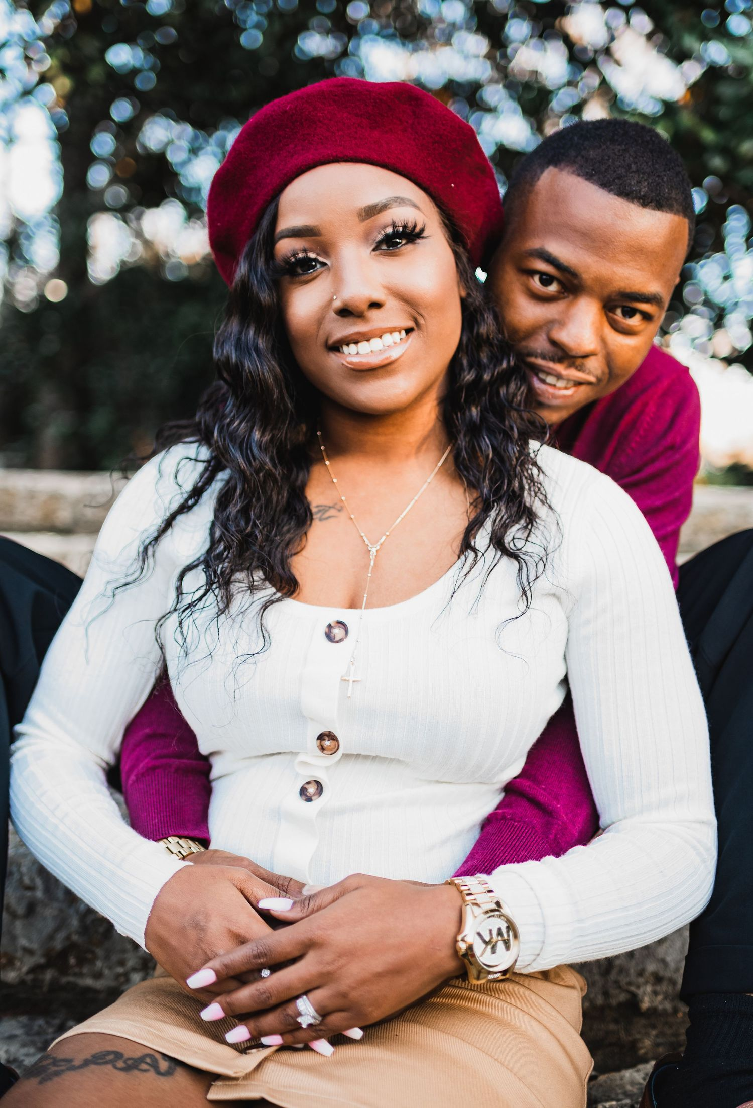 black couple love photo