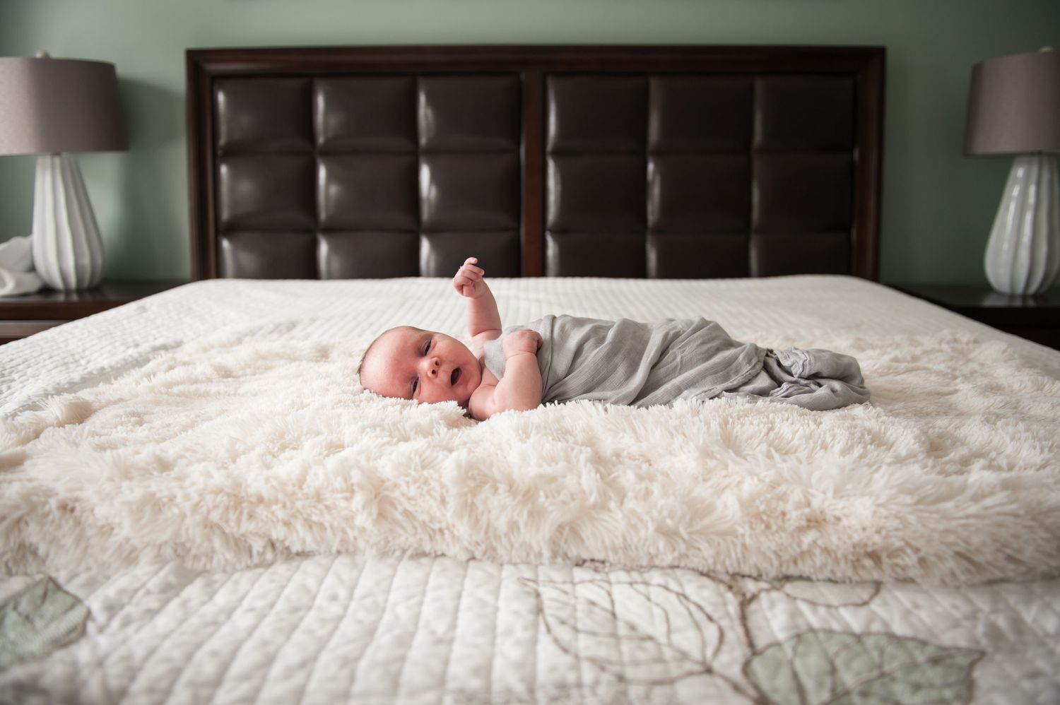 in home lifestyle newborn session fort myers