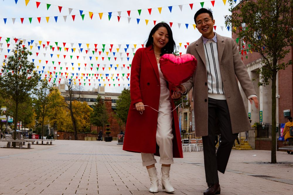 Naturally posed engagement photography at Leeds University by Photography Liverpool Wedding Photographer
