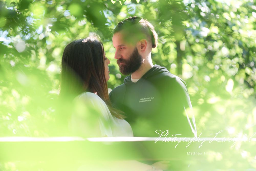 Naturally posed engagement photography at Liverpool festival gardens by Photography Liverpool Wedding Photographer
