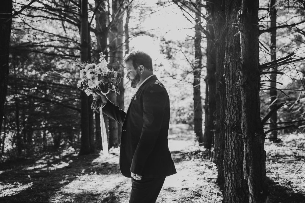 Mount Pleasant Michigan Forest Elopement Photographer