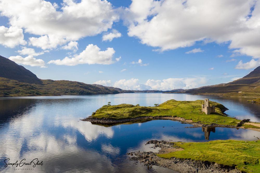 Ardvreck Castle in Scotland