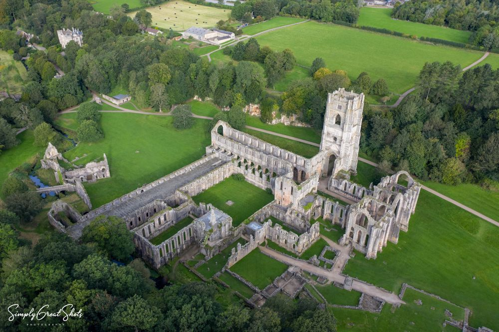 Fountains Abbey from above