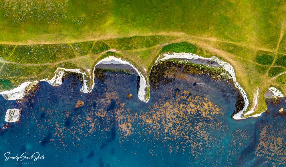 Top down view of the Jurassic Coastline