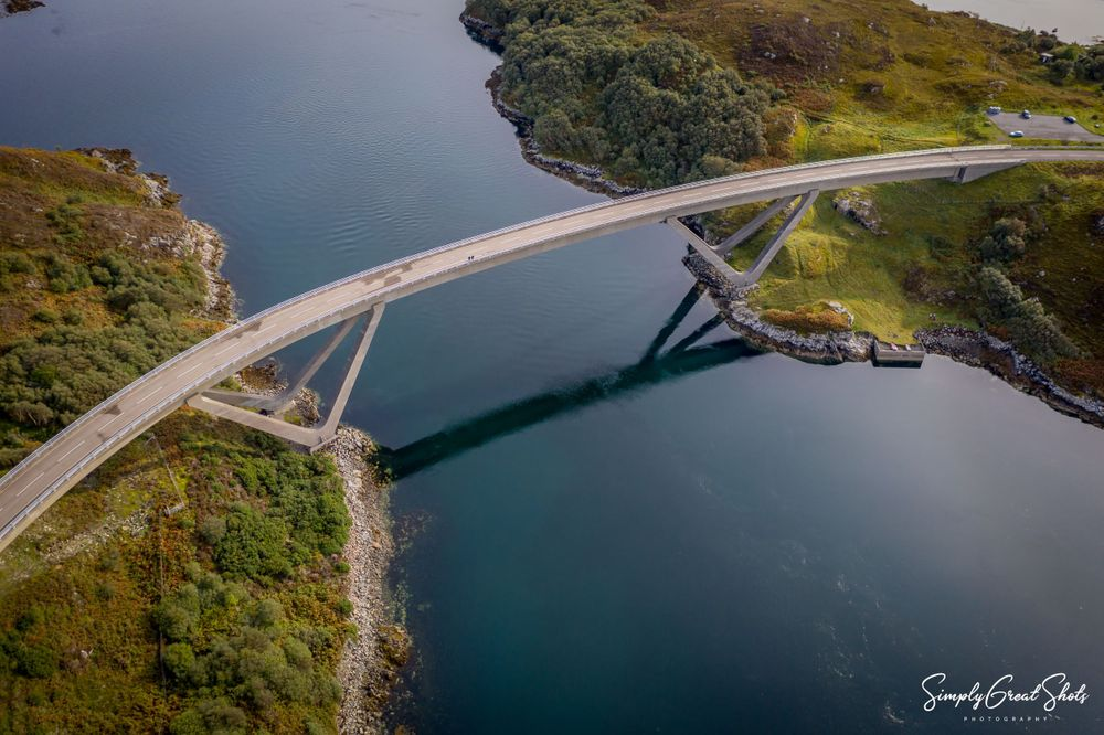 Kylesku Bridge in Scotland
