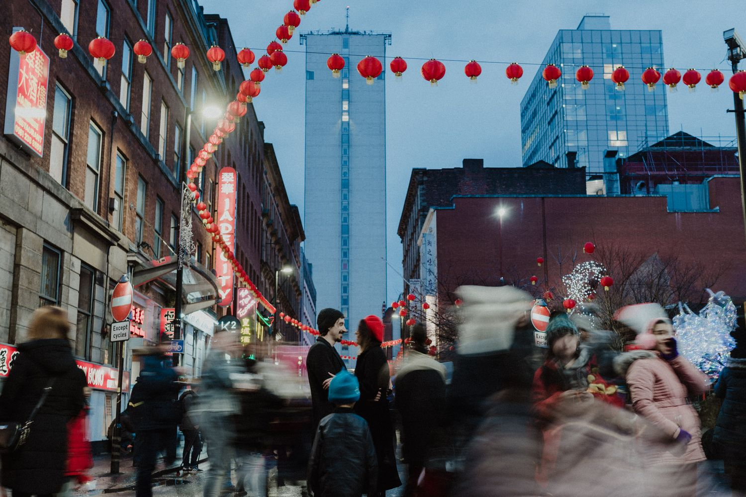 Manchester Chinatown new year engagement photography