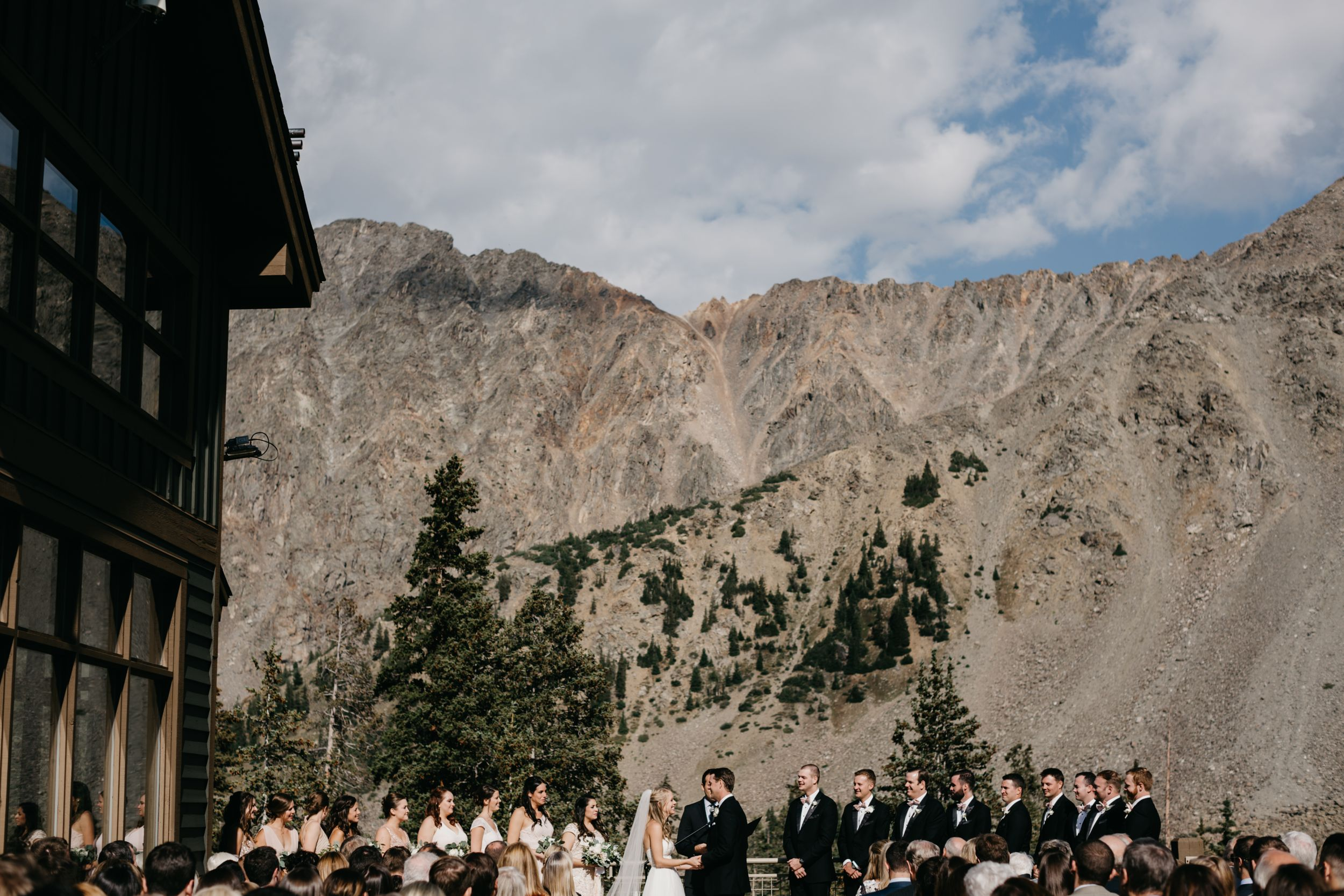 Black Mountain Lodge Wedding at Arapahoe Basin Ski Area in Dillon, CO