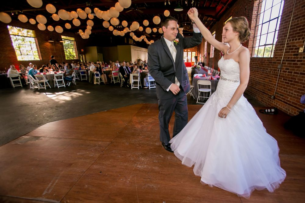 Kelsey & Mike have their first dance during their wedding reception at Senate's End in Columbia, SC.