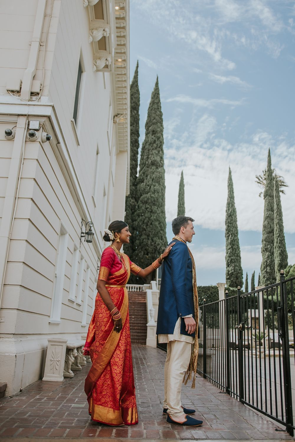 rebecca skidgle photography northen california napa wedding photographer first look bride groom romantic indian