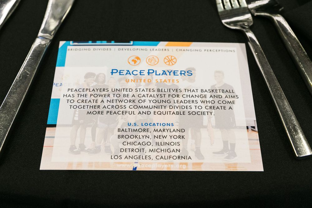 PeacePlayers program on table.