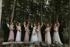 Glen Arbor Wedding Photographer Bridal Party IMage