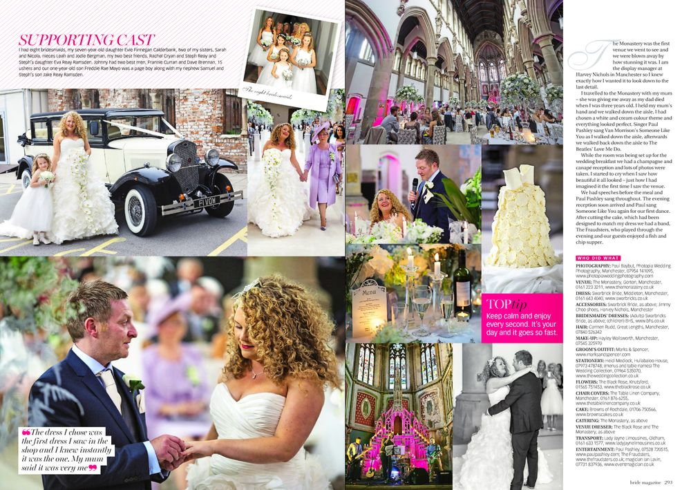 Bride and groom during their wedding at Gorton monastery as featured in the pages of Cheshire Bride magazine
